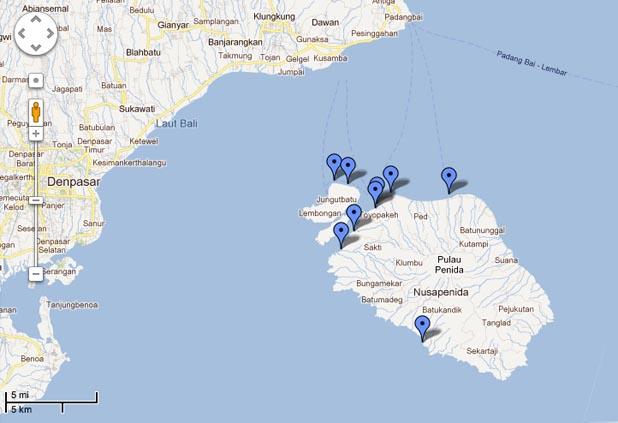 Peta Nusa Penida