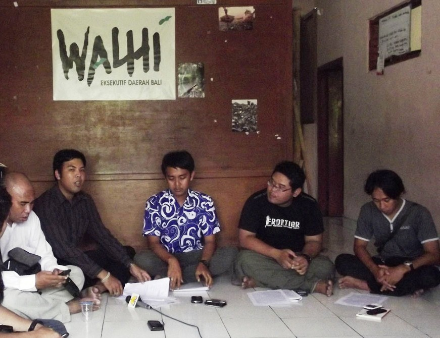 Walhi Bali, Sloka Institute, Frontier Bali,dan Kekal Bali